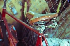 Een deel van oude fiets stock afbeelding