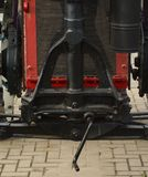 Een deel van een oude tractor stock afbeelding
