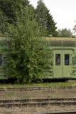 Een deel van oude trein stock afbeelding