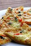 Een deel van pizza met kaas Stock Fotografie