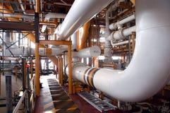 Een deel van raffinaderij stock afbeeldingen