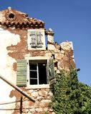 Een deel van ruïnehuis Stock Afbeeldingen