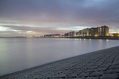 Een deel van skykline van Terneuzen, een stad in zeeuws-Vlaanderen, Zeeland, Nederland, Europa stock foto