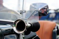 Een deel van uitstekende sportwagen stock foto's