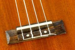 Een deel van ukelele Hawaiiaanse gitaar Royalty-vrije Stock Fotografie