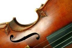 Een deel van viool Stock Fotografie