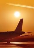 Een deel van vliegtuig bij de luchthaven Royalty-vrije Stock Afbeelding