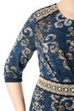 Een deel van vrouwelijke odezhy, de schouders en de kokers Royalty-vrije Stock Afbeeldingen