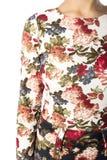 Een deel van vrouwelijke odezhy, de schouders en de kokers Royalty-vrije Stock Fotografie