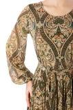 Een deel van vrouwelijke odezhy, de schouders en de kokers Royalty-vrije Stock Foto's