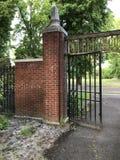 Een deel van W A Jensen Memorial Gate, de Universiteit van de Staat van Oregon stock foto's