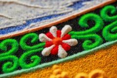 Een deel van zandige mandala Royalty-vrije Stock Afbeeldingen