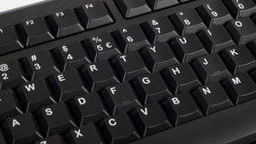 Een deel van zwart computertoetsenbord Royalty-vrije Stock Foto