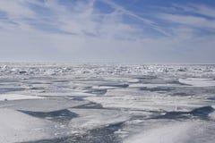 Een dekbed van ijs Stock Foto's