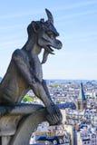 Een demon van Notre Dame de Paris Stock Foto