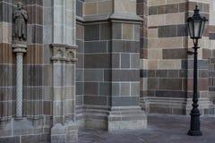 Een detail op een kathedraal, het ijs van KoÅ ¡, Slowakije royalty-vrije stock foto