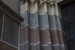 Een detail op een kathedraal, het ijs van KoÅ ¡, Slowakije stock fotografie