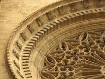 Een detail op kathedraal in Palma, Spanje stock afbeeldingen