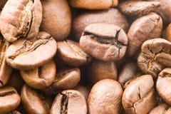 Een detail van coffekorrels Stock Foto's