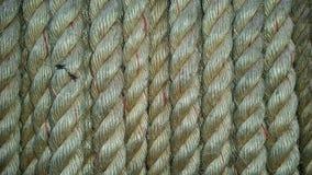 Een detail van de kabelstextuur Stock Foto's