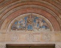 Een detail van duomo van Verona in Italië Royalty-vrije Stock Afbeeldingen