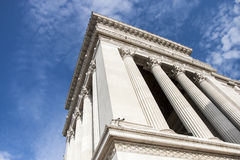 Een detail van het gigantische monument van het Altaar van het (Victoriaanse) Vaderland aan Rome (Italië) Royalty-vrije Stock Fotografie