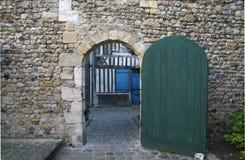 Een deur aan het verleden Stock Foto