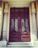 Een deur binnen Abdeen-paleis Royalty-vrije Stock Afbeeldingen