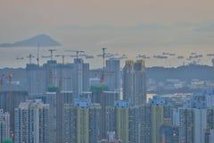 een Dichte hoge stijgingsflats in Kowloon, Hongkong Royalty-vrije Stock Foto's