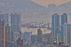een Dichte hoge stijgingsflats in Kowloon, Hongkong Royalty-vrije Stock Fotografie