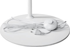 Een dichte omhoog gedeeltelijke mening van een witte staande lamp