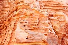 Een dichtere blik op kleurrijke klippen Stock Foto