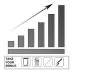 Een digitaal diagram dat de groei van bedrijfsprestaties aantoont Stock Fotografie