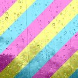 Een digitale illustratie van strepen die pansexual kleuren tonen of royalty-vrije stock afbeeldingen