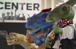 Een Dinosaurusband bij t-Rex Planeet, het Centrum van Tucson Expo Stock Foto's