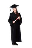 Een diploma behalend studentenmeisje Stock Afbeeldingen