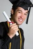 Een diploma behalende Mens stock foto's