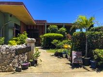 Een distinctief hotel bij Kurima-eiland stock fotografie