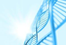 Een DNA op medische achtergrond vector illustratie