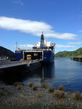 Een dok met een veerboot Royalty-vrije Stock Afbeelding
