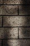 Een donkere bakstenen muur Stock Foto's