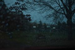 Een Donkere en Regenachtige Nacht stock afbeelding