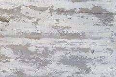 Een Doorstane houten textuur met het pellen van witte verf Abstracte Achtergrond Grunge Stock Foto