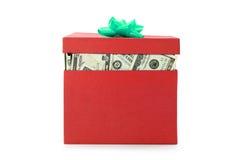 Een doos geld Stock Afbeelding