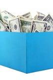 Een doos geld Royalty-vrije Stock Foto