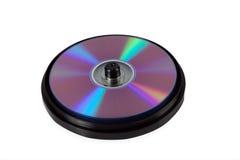 Een doos met CDs Royalty-vrije Stock Afbeeldingen