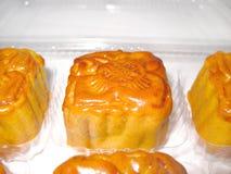 Een doos mooncakes stock afbeelding