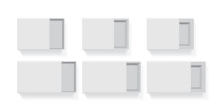 Een doos voor uw embleem en ontwerp vector illustratie