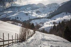 Een dorp in de bergen Royalty-vrije Stock Afbeeldingen