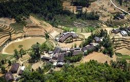 Een dorp in noordelijk Vietnam Stock Afbeeldingen